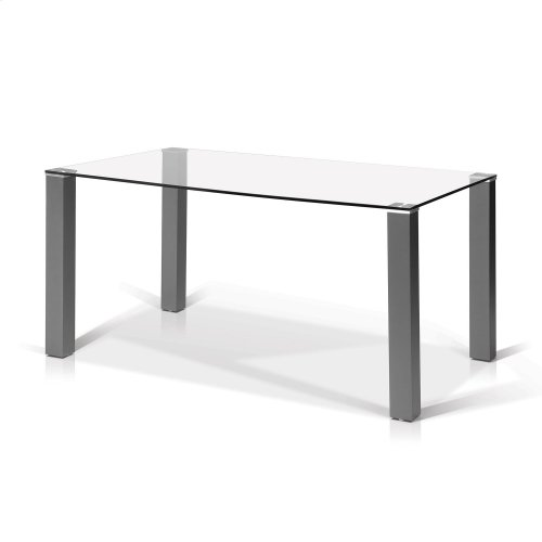 Marlee Rectangular Glass Top Dining Table