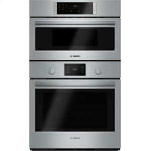 "Bosch500 Series, 30"" Combo, Upper: Microwave, Lower: EU Conv, Knob Control"
