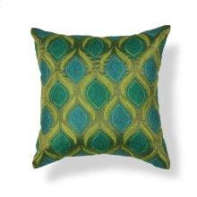 "L107 Teal/green Tribeca Pillow 18"" X 18"""