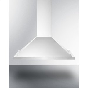 Summit30 Inch ADA Compliant European Wall-mounted Range Hood In Stainless Steel With Remote Wall Switch