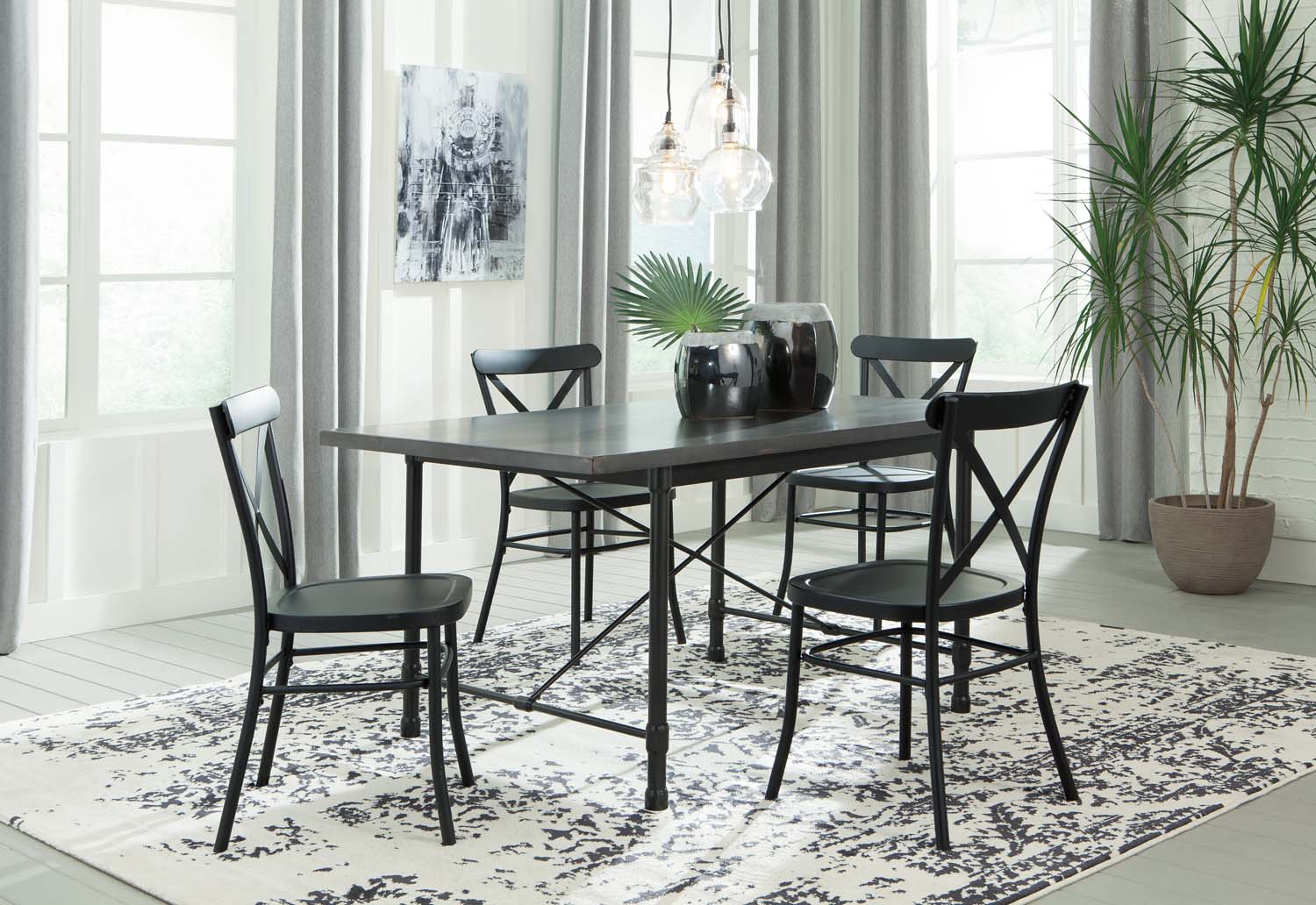 7 piece dining room set china cabinet minnona multi piece dining room set d400d8 in by ashley furniture conway ar