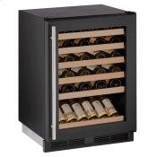 "24"" Wine Refrigerator With Black Frame Finish (115 V/60 Hz Volts /60 Hz Hz)"
