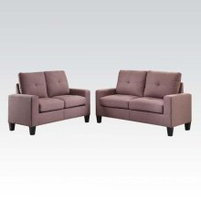 PLATINUM II CHOC SOFA/LOVESEAT