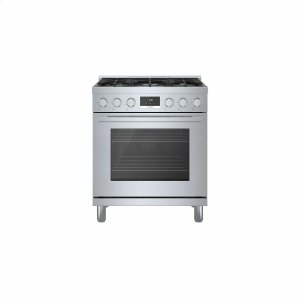 Bosch800 Series Gas Freestanding Range 30'' Stainless Steel HGS8055UC