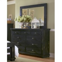 Dresser \u0026 Mirror - Distressed Black Finish