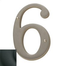 Satin Black House Number - 6