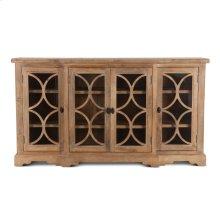 "San Rafael Glass Cabinet 75"" Antique Oak"