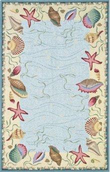 Colonial 1804 Blue/ivory Ocean Surprise 2' X 8' Runner