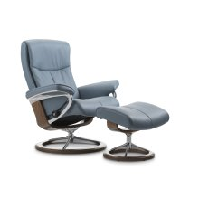 Stressless Peace Small Signature Base Chair and Ottoman