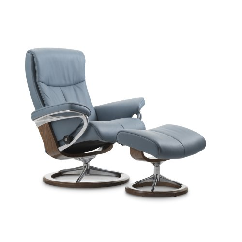 Stressless Peace Large Signature Base Chair and Ottoman