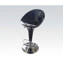 Black/chrome Adjustable Stool