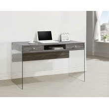 Contemporary Weathered Grey Writing Desk