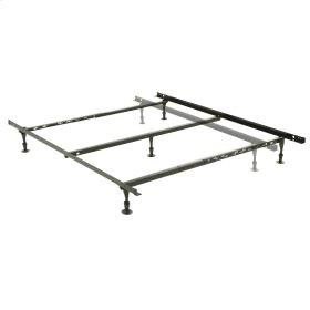 Harvard Adjustable NH50GC4 Heavy Duty Bed Frame with Keyhole Cross Arms and (5) 2-Piece Glide Legs, Twin / Queen