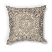 "L183 Silver Damask Pillow 18"" X 18"""