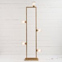 Clara Floor Lamp-gold Leaf