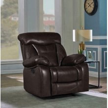 Zimmerman Casual Dark Brown Glider Recliner