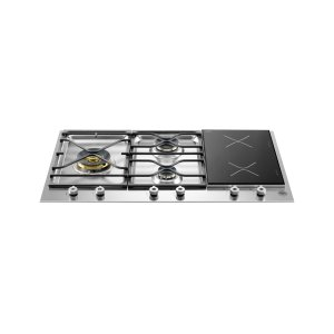 Bertazzoni36 Segmented Cooktop 3-burner and 2 induction zones Stainless