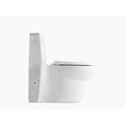 Empress Bouquet One-piece Elongated Dual-flush Skirted Toilet With Top Actuator and Saile Quiet-close Toilet Seat With Quick-release Functionality