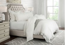 7 pc. King Duvet Set, 108x96 White