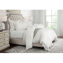 7 pc. King Duvet Set, 108x96 White
