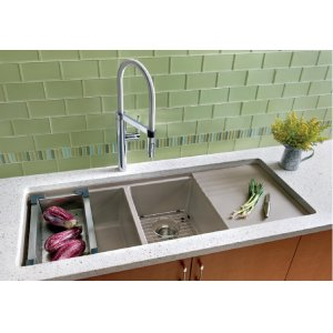 Blanco Precis Multilevel 1-3/4 Bowl With Drainer - Cinder