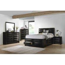 Briana Transitional Black Queen Five-piece Bedroom Set