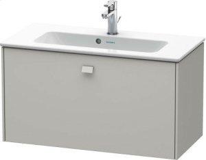 Vanity Unit Wall-mounted Compact, Concrete Gray Matt Decor Product Image