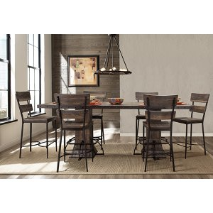 Hillsdale FurnitureJennings 7 Piece Rectangle Counter Height Dining Set With Non-swivel Counter Stools - Distressed Wal