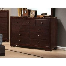 Conner Casual Cappuccino Nine-drawer Dresser