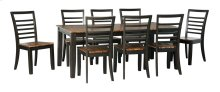 Quinley - Two-tone Brown 9 Piece Dining Room Set