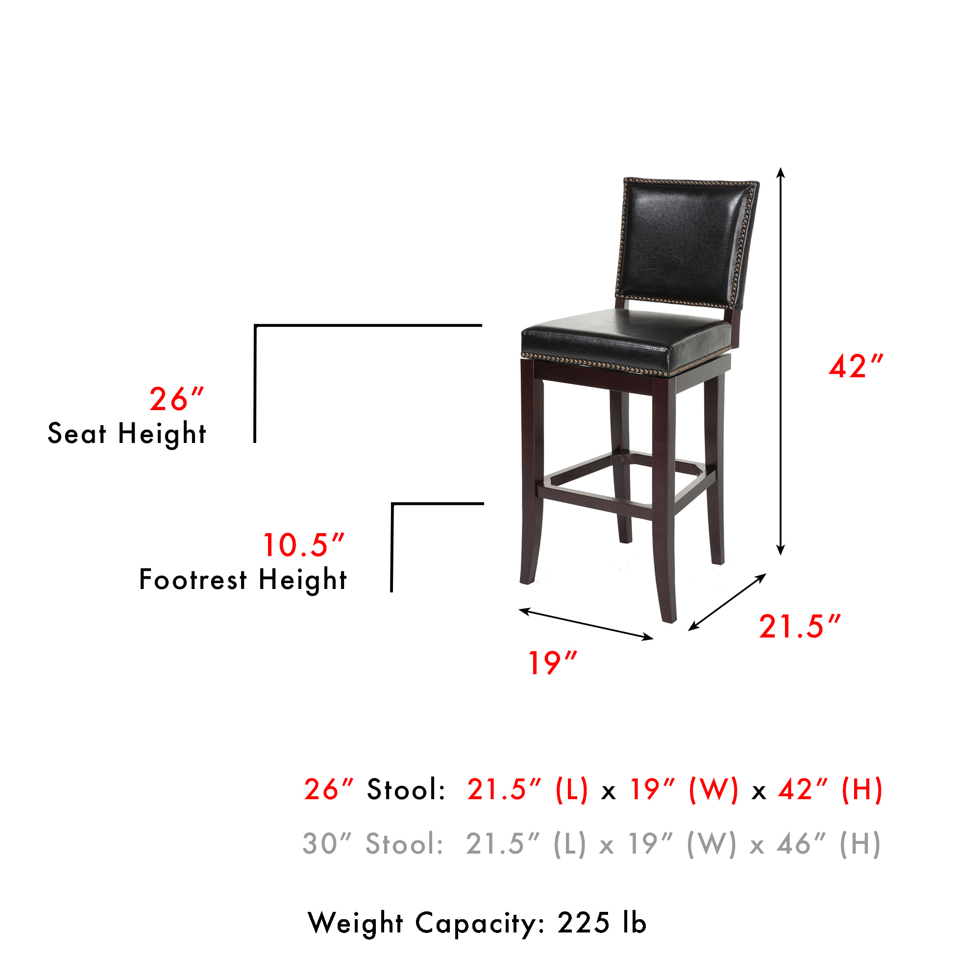 C1x116fashion Bed Group Sacramento Swivel Seat Counter Stool With
