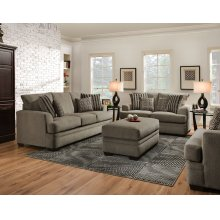3650 - Cornell Pewter Sofa