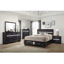 Miranda Contemporary Black California King Bed