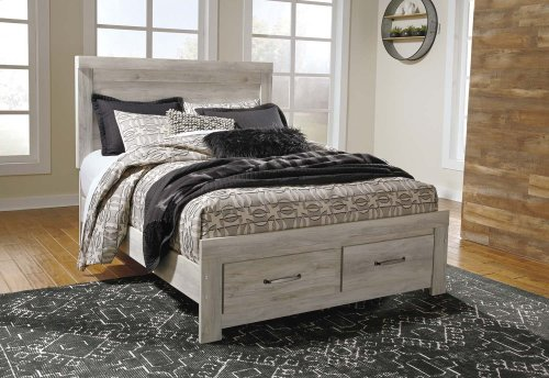 Bellaby - Whitewash 4 Piece Bed Set (Queen)