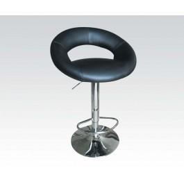 Black Pu Adjustable Stool