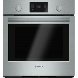 "Bosch500 Series, 27"", Single Wall Oven, SS, EU Convection, Knob Control"