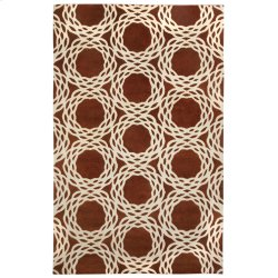 Oxford Rust Ivory Hand Knotted Rugs