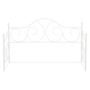 Fashion Bed GroupCaroline Metal Daybed Frame with Gently Sloping Back and Side Panels, Antique White Finish, Twin