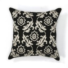 "L118 Black/white Finesse Pillow 18"" X 18"""