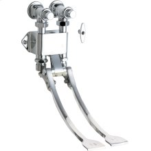 Foot operated remote valve
