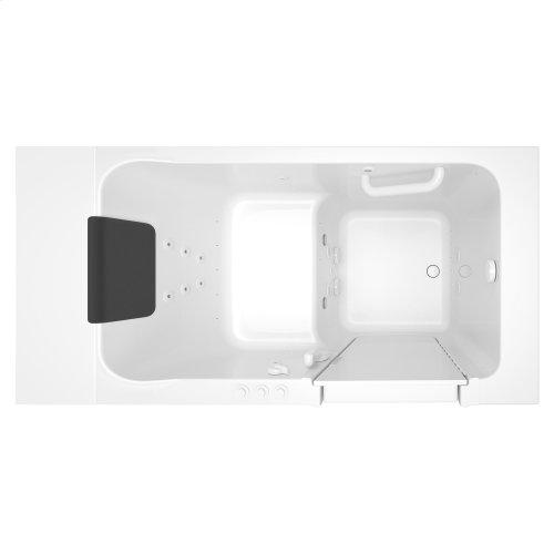 Luxury Series 30x51-inch Right Drain Walk-In Tub  Combo Massage Tub  American Standard - White