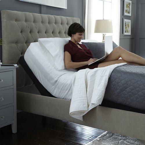 Prodigy 2.0+ Adjustable Bed Base with Lumbar Support, Black Finish, Split King