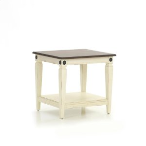 Intercon FurnitureGlennwood End Table  White & Charcoal