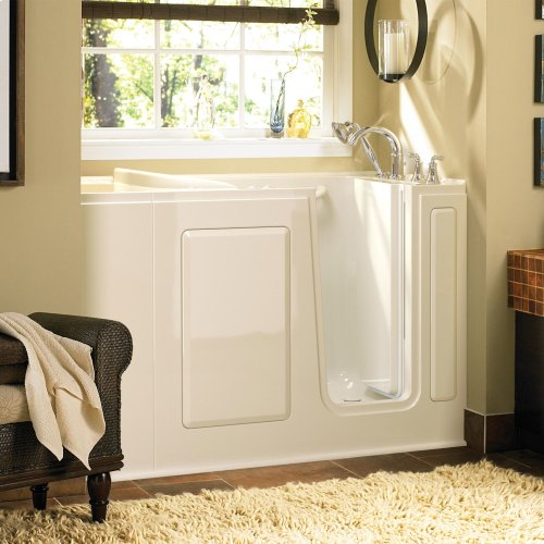 Gelcoat Value Series 28x48-inch Walk-in Tub with Combo Air Spa and Whirlpool System  American Standard - Linen