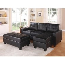 BK REV. SECTIONAL SOFA & OTTOM