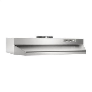 Broan30-Inch Under Cabinet Range Hood With Light In Stainless Steel With Ez1 Installation System