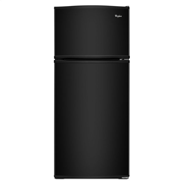 Whirlpool 28-inch Wide Top Freezer Refrigerator - 16 cu. ft. Black