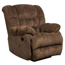 Contemporary Columbia Mushroom Microfiber Power Recliner with Push Button