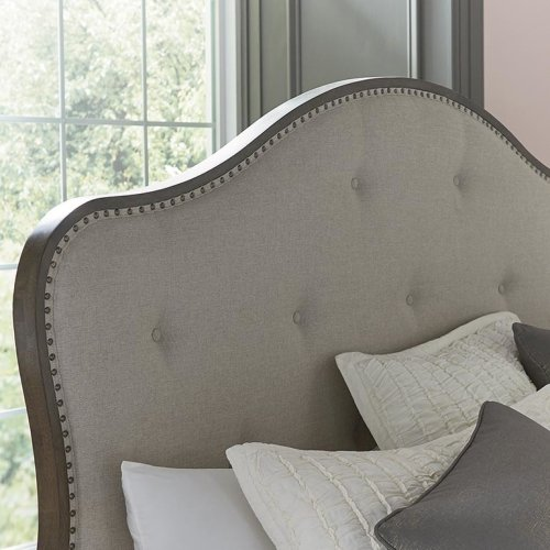 Cal King/Provence Espresso Provence Upholstered Bed