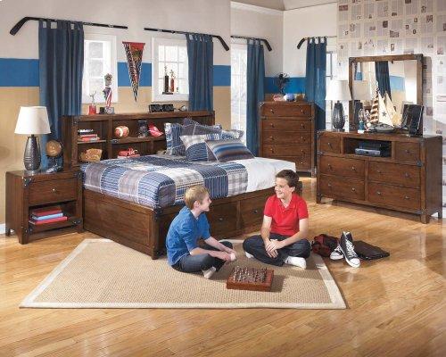 Ashley Full Bookcase w/ Storage Bed
